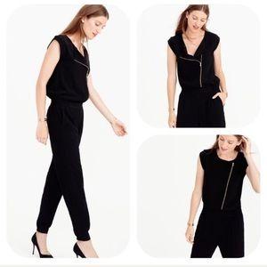 J. Crew Asymmetrical Zipper Black Jumpsuit